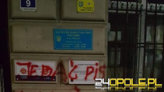 Wulgarne napisy na murach biura poselskiego Violetty Porowskiej