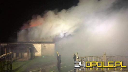 Pożar budynku gospodarczego w Kielczy
