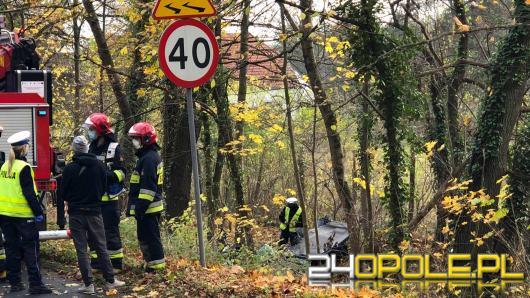 Śmiertelny wypadek na trasie Turawa-Rzędów. Nie żyje kierowca osobówki