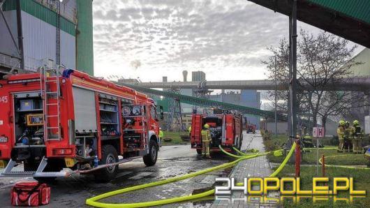 Pożar na terenie zakładów Górażdże Cement S. A