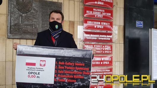 Prezydent Opola zastanawia się, czy nie doszło do podziału partyjnego środków rządowych
