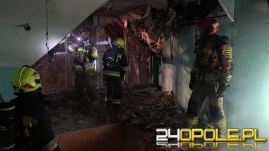 Strażacy gasili pożar pustostanu w Gogolinie