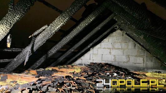 Strażacy gasili dach domu jednorodzinnego w Krapkowicach