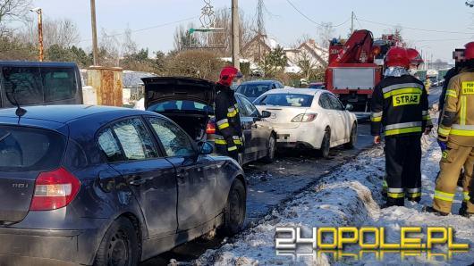 Trzy samochody osobowe zderzyły się na ulicy Częstochowskiej w Opolu