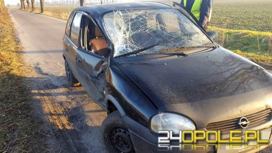 Kierowca uderzył w drzewo. Był pijany