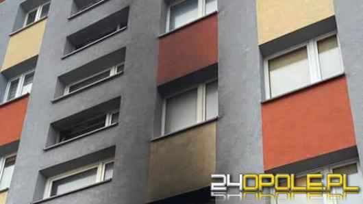 Pożar mieszkania w bloku na osiedlu w Kędzierzynie Koźlu
