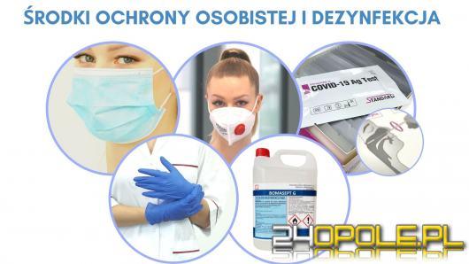 Maski chirurgiczne, FFP2, środki dezynfekujące dla firm. Gdzie kupić w Opolu?