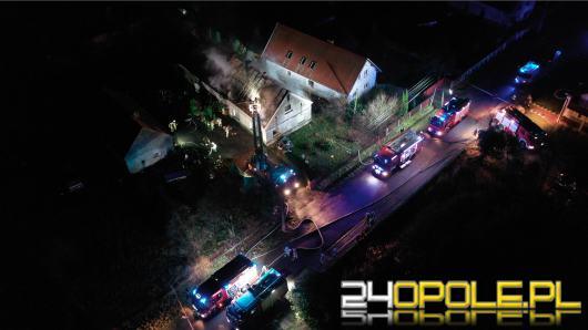 Spłonął dach domu jednorodzinnego w Karczowie