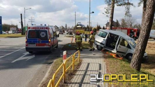 Wypadek na DK 94 w Strzelcach Opolskich. Poszkodowany był zakażony Covid-19