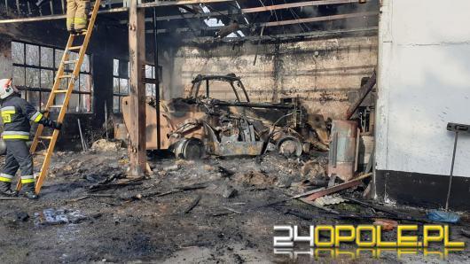 Pożar w Maciejowicach w powiecie nyskim. Eksplodowała butla z gazem