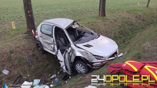 Wypadek w Kuniowie. Dwie kobiety zabrane do szpitala