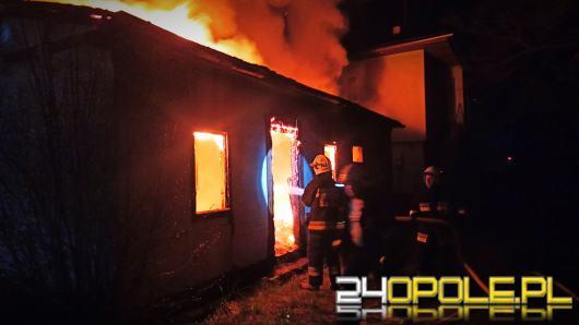 Pożar starej rozdzielni PKP w Łambinowicach