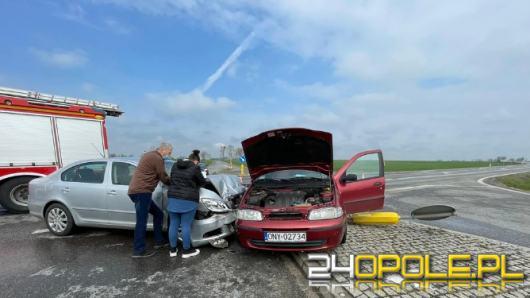 Wypadek w powiecie brzeskim. Dwie osoby trafiły do szpitala