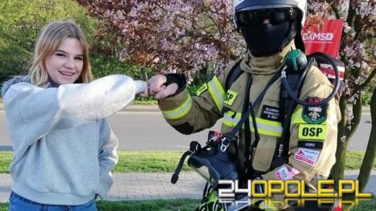 Strażak OSP w pełnym umundurowaniu pokonał 86 km na Górę św. Anny