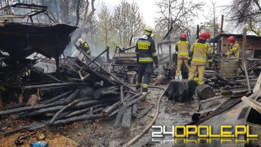 Pożar zabudowań gospodarczych w Goszczowicach
