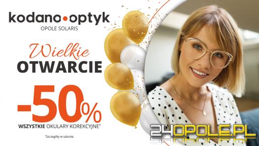 50% rabatu na WSZYSTKIE okulary korekcyjne z okazji otwarcia KODANO Optyk w Opolu!