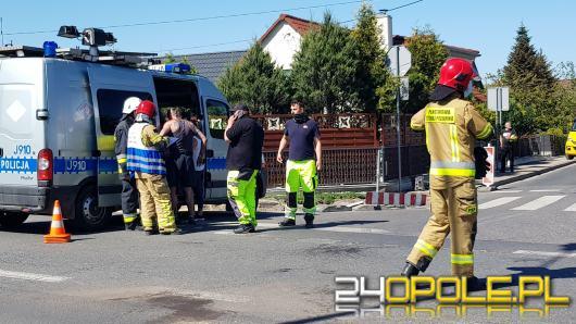 Zderzenie pojazdów na ulicy Strzeleckiej w Opolu