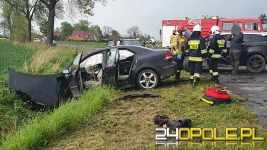 Wypadek w powiecie namysłowskim. Poszkodowana dwójka dzieci