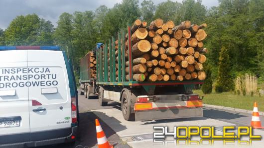 Zatrzymano transport drewna