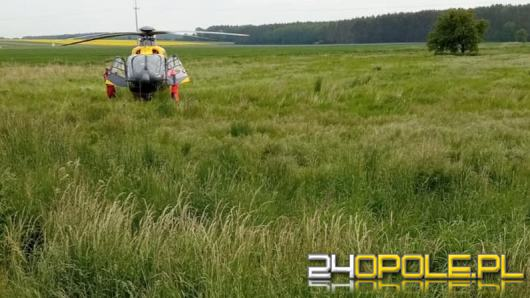 Potrącenie rowerzystki na trasie Świerczów-Miejsce. Lądował śmigłowiec LPR