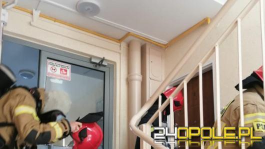 Ulatniający się gaz w mieszkaniu. Strażacy wyważyli drzwi