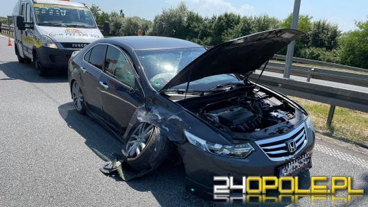Zderzenie pojazdów na 237 km A4 - lądował LPR