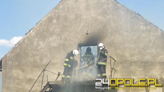 Pożar budynku gospodarczego w miejscowości Nowa Wieś