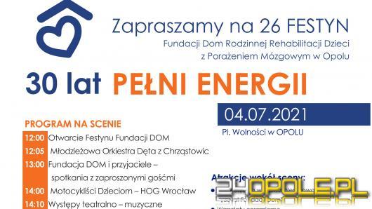 """XXVI Festyn Fundacji Dom pod hasłem """"30 LAT PEŁNI ENERGII""""."""