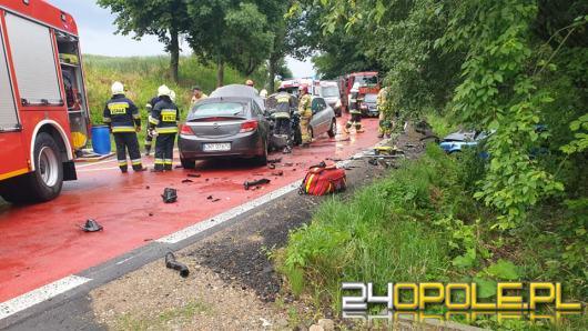 3 kobiety w szpitalu po wypadku drogowym pod Nysą. Sprawca pijany