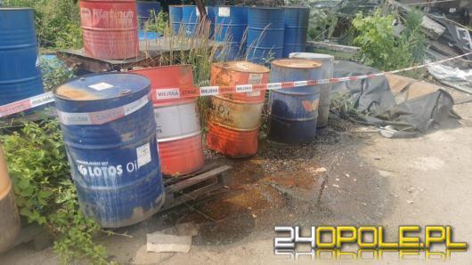 Nieszczelność zbiorników oraz wyciek nieznanych substancji