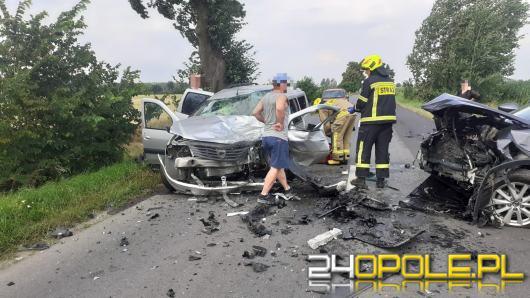 Wypadek pod Skorogoszczą. Kobieta w zaawansowanej ciąży zabrana przez LPR