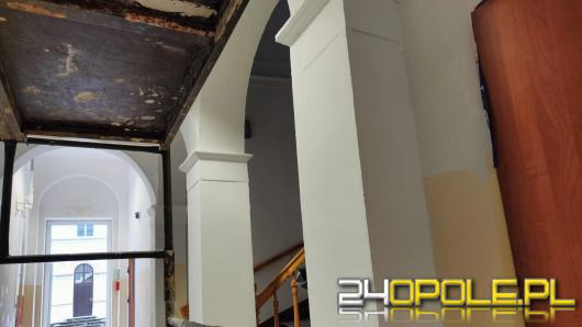 Korzystając z nieobecności uczniów remontowany jest internat w Tułowicach