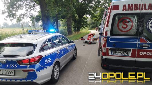 Kierowca motocykla w krytycznym stanie. Wypadek pod Namysłowem