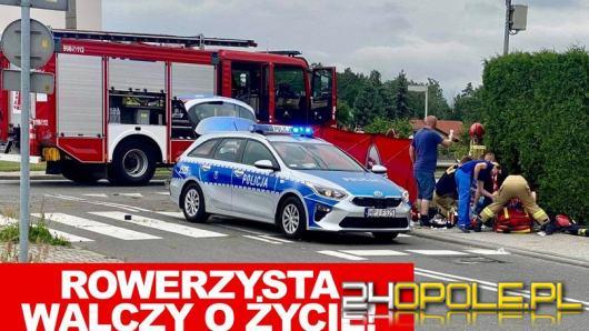 Śmiertelne potrącenie rowerzysty na pasach w Krapkowicach. Droga całkowicie zablokowana
