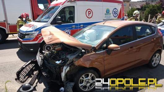 Dwa samochody osobowe zderzyły się w powiecie głubczyckim