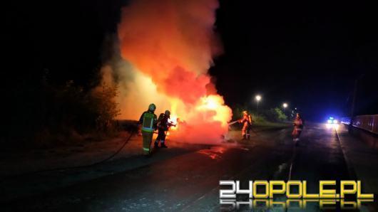 Pożar lawety w Turawie