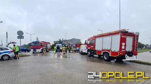 Cztery osoby poszkodowane po zderzeniu trzech pojazdów na obwodnicy Opola
