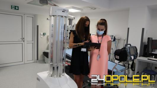 Robot do dezynfekcji, sfinansowany przez Komisję Europejską, trafił do USK w Opolu