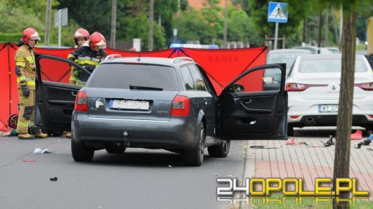 Wypadek w Popielowie. Ciężko ranny motocyklista zabrany przez LPR
