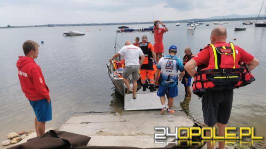 Tragedia nad Jeziorem Nyskim. Mężczyzna wypadł z łodzi - nie przeżył