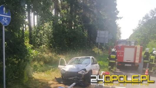 Wypadek na ul. Opolskiej w miejscowości Brynica