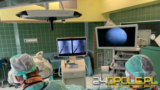 """Separacja nowotworu przez endoskop czyli operacja przez """"dziurkę od klucza"""""""