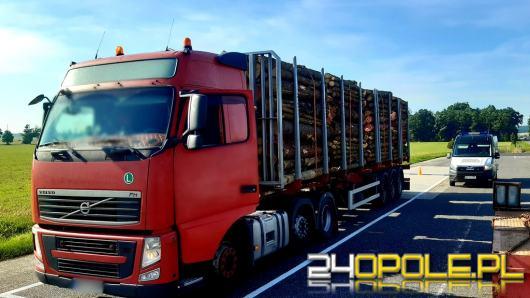 5 ton za dużo przewoził samochód ciężarowy z drewnem