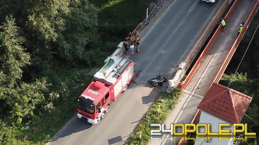 Wypadek w Kępie pod Opolem. Motocyklista w stanie krytycznym