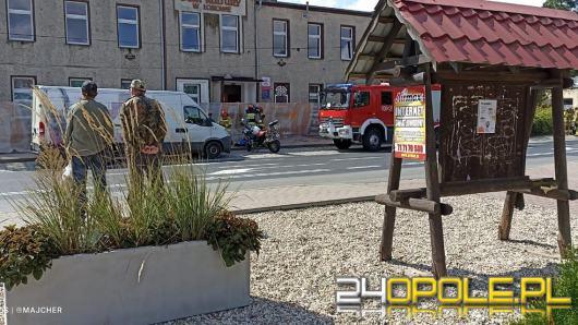 Wypadek w Łosiowie. Poszkodowany motocyklista