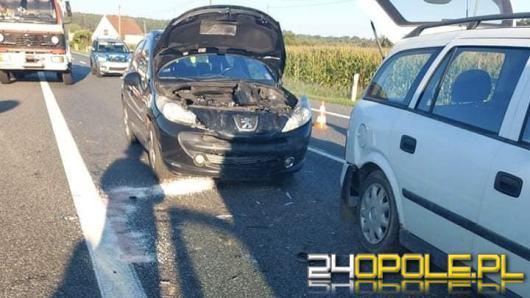 Cztery samochody zderzyły się w Dąbrowie