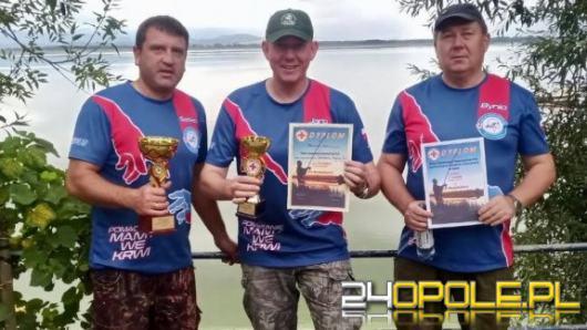 Policjant z Opola zajął drużynowo I miejsce w zawodach wędkarskich