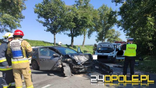 Zderzenie pojazdów na DK38 w powiecie kędzierzyńsko-kozielskim