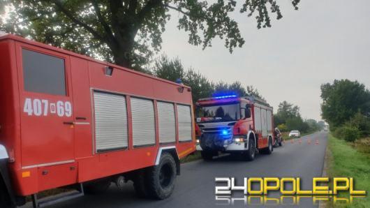 Wypadek w powiecie brzeskim. Motocyklista zderzył się z busem