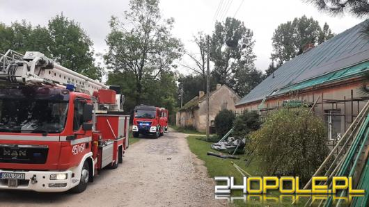 Pożar w domu jednorodzinnym w Głuszynie